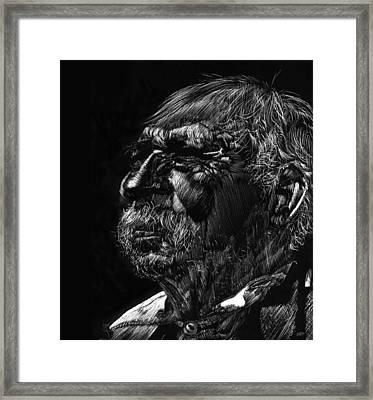 Old Man Framed Print by Michele Engling