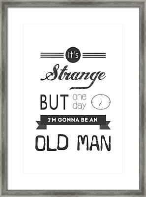 Old Man Framed Print by Parmveer Masuta