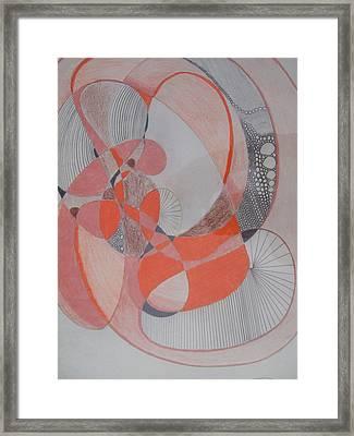 Old Man Zantangle Framed Print by Jimi Bush
