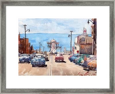 Old Manhattan Beach Framed Print by Max Good
