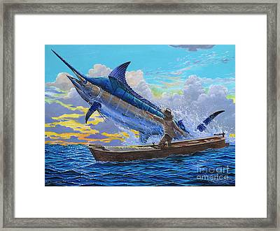 Ocean City Framed Print featuring the painting Old Man's Battle Off00133 by Carey Chen