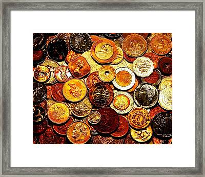 Old Metal Framed Print by Benjamin Yeager