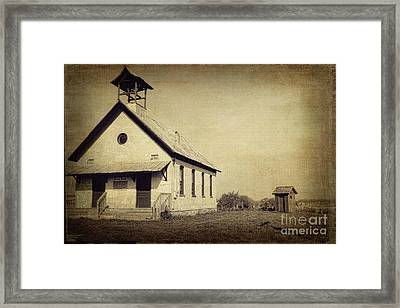 Old Michigan One Room School House Framed Print by Emily Kay