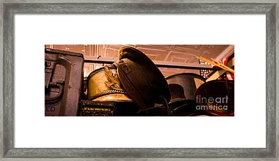 Old Military Hats Framed Print by Amy Cicconi