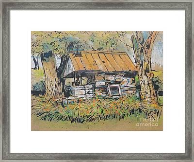 Old Milk House Framed Print by Larry Lerew
