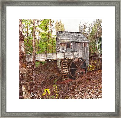 Old Mill At Cades Cove Framed Print by Cloud Farrow