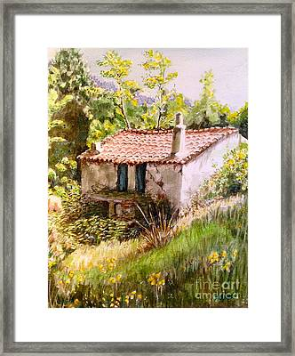 Old Mill At Kechrya 02 Framed Print by Yvonne Ayoub
