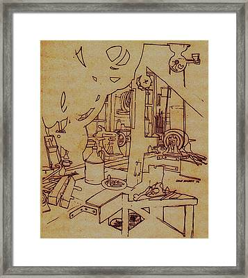 Old Mill Framed Print by Dale Michels