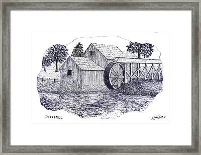 Old Mill Framed Print by Frederic Kohli