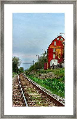 Old Mill On The Tracks Framed Print by Julie Dant