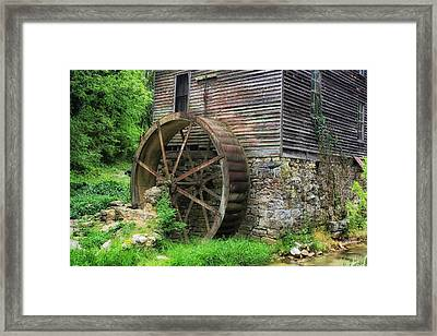 Old Mill Outside Gatlinburg Framed Print by Mountain Dreams