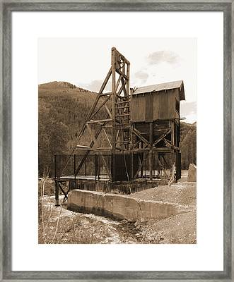 Old Mine Sepia Framed Print by Alan Socolik