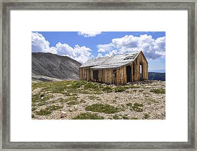 Old Mining House Framed Print by Aaron Spong