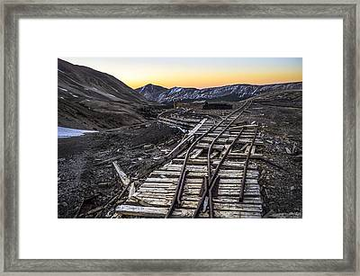 Old Mining Tracks Framed Print by Aaron Spong