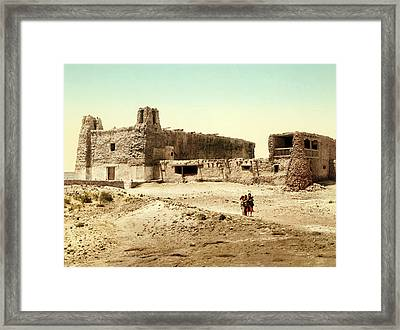 Old Mission Church At Acoma Framed Print by William Henry Jackson