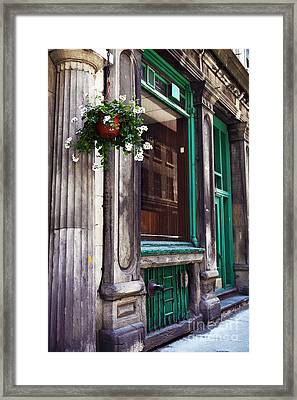 Old Montreal Architecture Framed Print by John Rizzuto