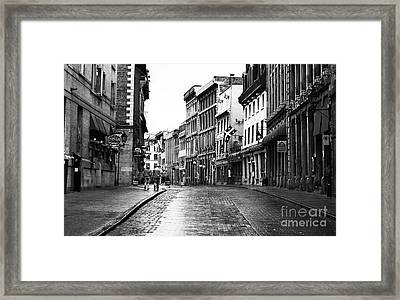 Old Montreal Streets Framed Print by John Rizzuto