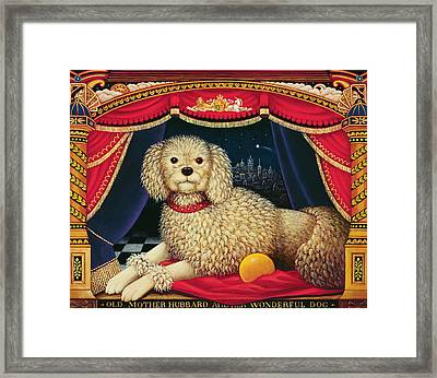 Old Mother Hubbards Wonderful Dog Framed Print by Frances Broomfield