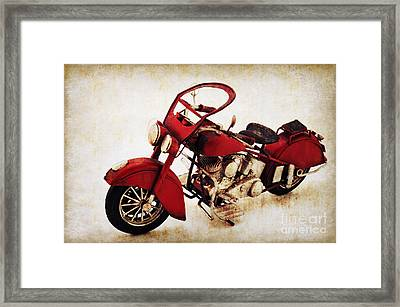 Old Motor-bike Framed Print by Angela Doelling AD DESIGN Photo and PhotoArt