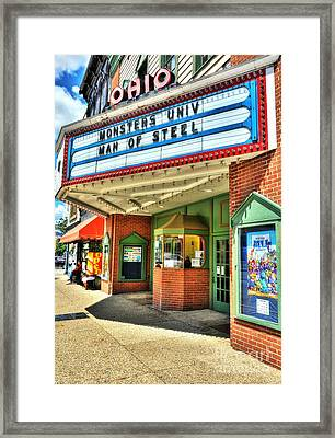 Old Movie Theater Framed Print by Mel Steinhauer