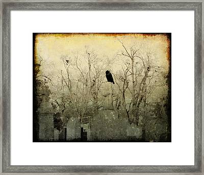 Old Necropolis Framed Print by Gothicolors Donna Snyder