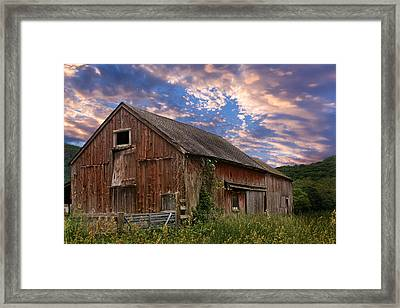 Old New England Barn Framed Print by Bill Wakeley