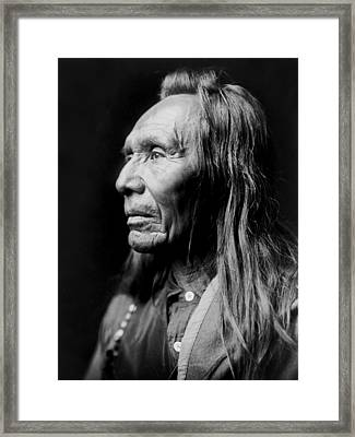 Old Nez Perce Man Circa 1910 Framed Print by Aged Pixel