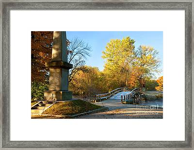 Old North Bridge Framed Print by Brian Jannsen