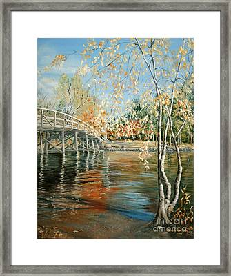 Old North Bridge Concord Framed Print by Wendy Griffiths