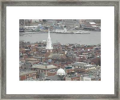 Old North Church Boston Ma Framed Print by Michelle Welles