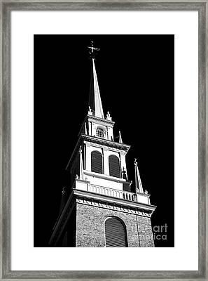 Old North Church Star Framed Print by John Rizzuto