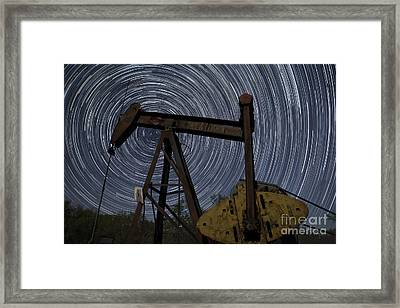 Old Oil Pump Deep In The Heart Of Texas Framed Print by Keith Kapple