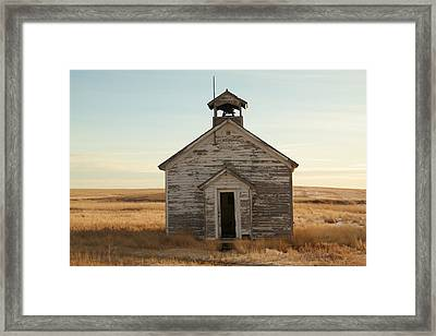 Old One Room Schoolhouse Framed Print by Jeff Swan