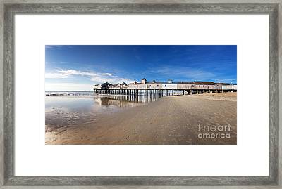 Old Orchard Beach Panorama Framed Print by Jane Rix