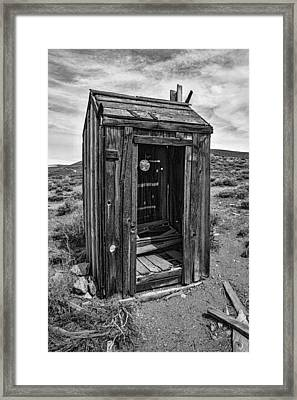 Old Outhouse Framed Print by Garry Gay