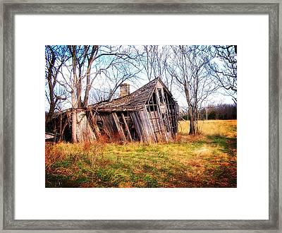 Old Ozark Home Framed Print by Marty Koch