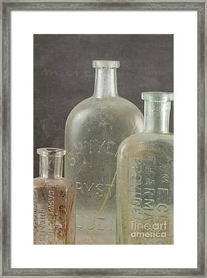 Old Pharmacy Bottle Framed Print by Juli Scalzi