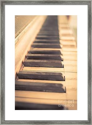Old Piano Keys Framed Print by Edward Fielding