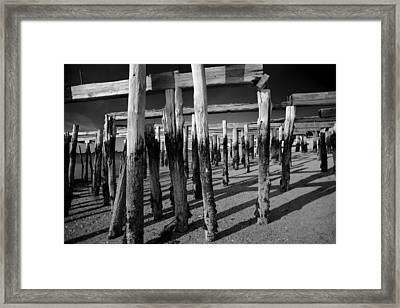 Old Pier Framed Print by Art K