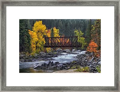 Old Pipeline Bridge Framed Print by Mark Kiver