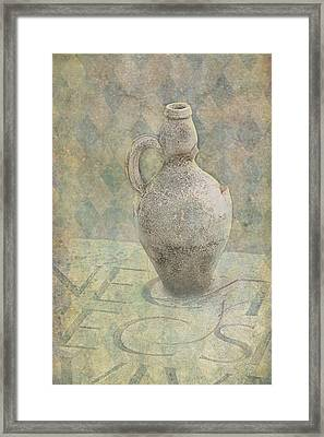 Old Pitcher Abstract Framed Print by Garry Gay