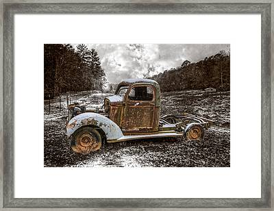 Old Plymouth Framed Print by Debra and Dave Vanderlaan