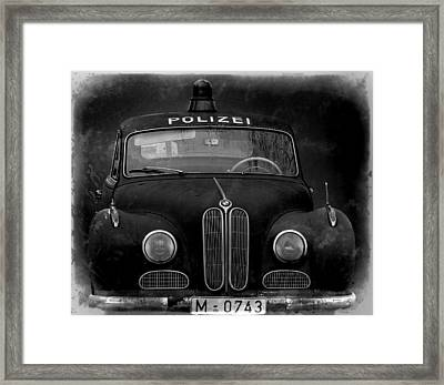 Old Polizei Auto Framed Print by Mountain Dreams