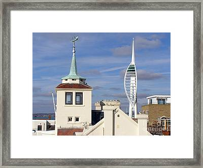 Old Portsmouth's Towers Framed Print by Terri Waters