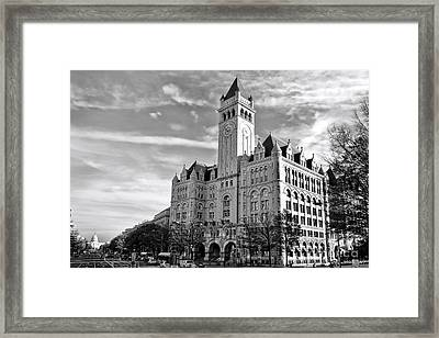 Old Post Office And Pennsylvania Avenue Framed Print by Olivier Le Queinec