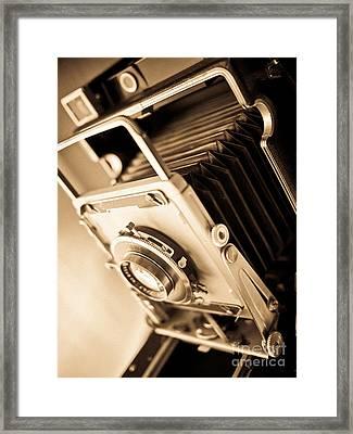 Old Press Camera Framed Print by Edward Fielding