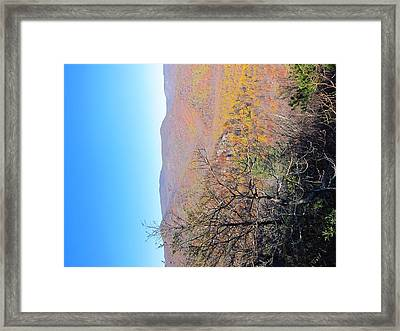 Old Rag Hiking Trail - 121223 Framed Print by DC Photographer