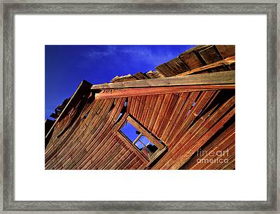 Old Red Barn Framed Print by Bob Christopher
