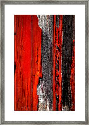 Old Red Barn Four Framed Print by Bob Orsillo