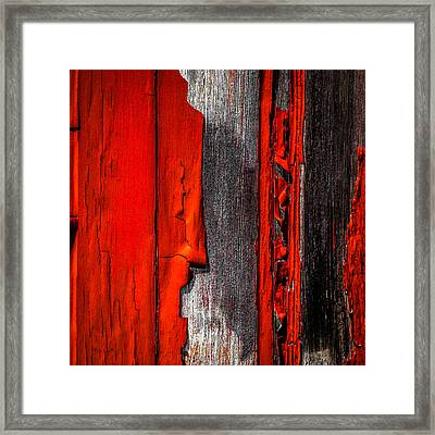 Old Red Barn One Framed Print by Bob Orsillo